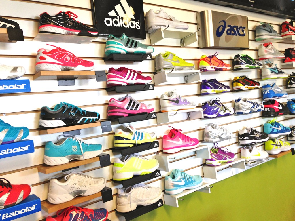 womens shoe wall